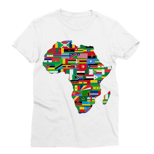 Africa Countries Flag Sublimation T-Shirt Apparel Flagdesignproducts.com