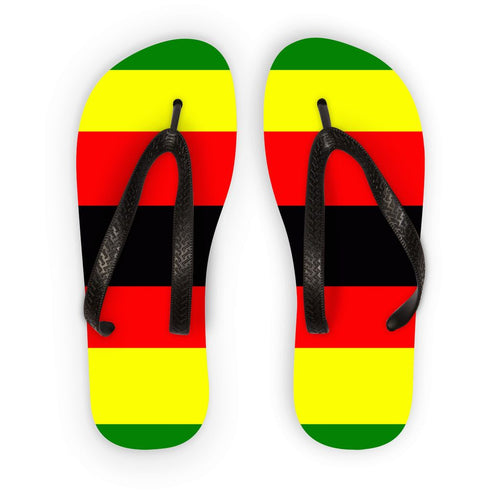 Flag Of Zimbabwe Flip Flops Accessories Flagdesignproducts.com