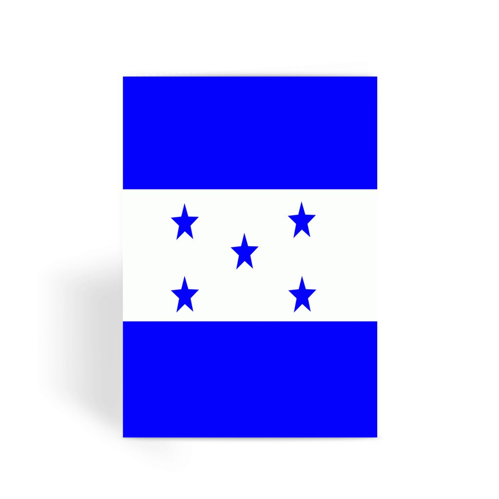 Flag Of Honduras Greeting Card Prints Flagdesignproducts.com