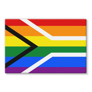 South African Rainbow Flag Stretched Canvas Wall Decor Flagdesignproducts.com