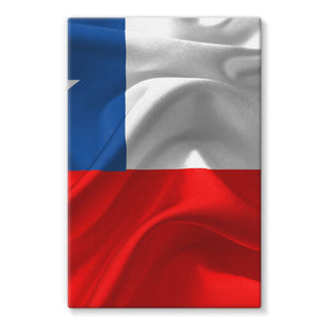 Waving Chile Flag Stretched Eco-Canvas Wall Decor Flagdesignproducts.com