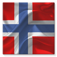 Flag Of Norway Stretched Canvas Wall Decor Flagdesignproducts.com