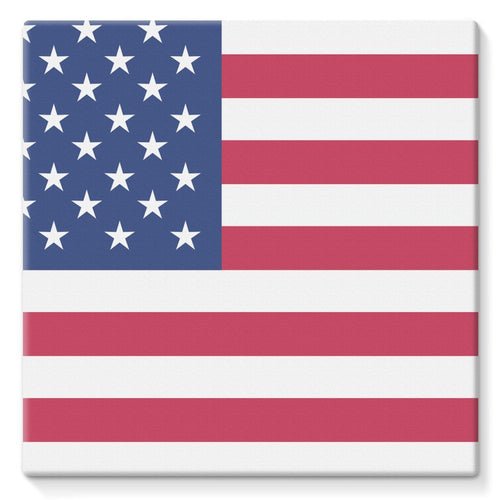 Basic Usa Flag Stretched Canvas Wall Decor Flagdesignproducts.com