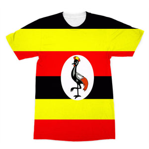Flag Of Uganda Sublimation T-Shirt Apparel Flagdesignproducts.com