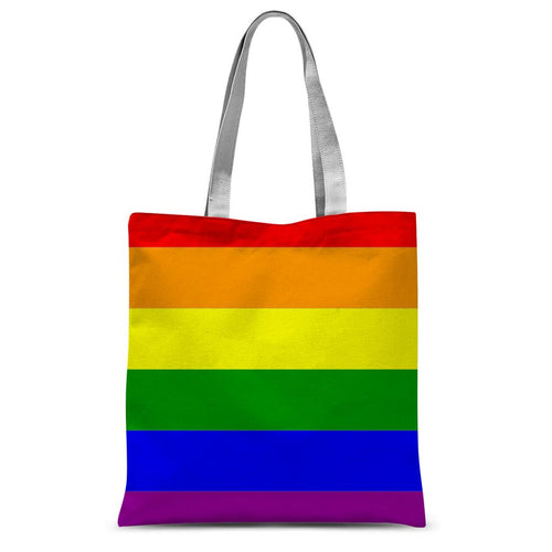 Colorful Rainbow Lgbt Flag Sublimation Tote Bag Accessories Flagdesignproducts.com