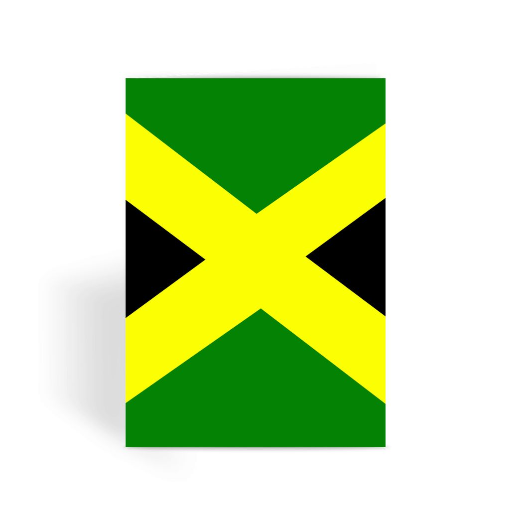 Flag Of Jamaica Greeting Card Prints Flagdesignproducts.com