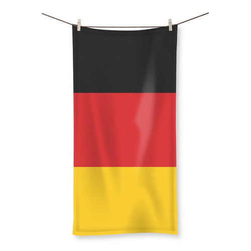 Basic Flag Of Germany Beach Towel Homeware Flagdesignproducts.com