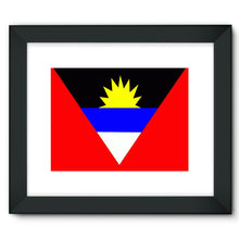 Flag Of Antigua And Barbuda Framed Fine Art Print Wall Decor Flagdesignproducts.com