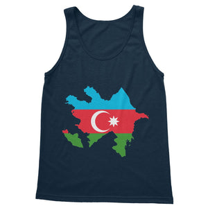 Azerbaijan Continent Flag Softstyle Tank Top Apparel Flagdesignproducts.com