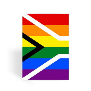 South African Rainbow Flag Greeting Card Prints Flagdesignproducts.com