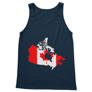 Canada Continent Flag Softstyle Tank Top Apparel Flagdesignproducts.com
