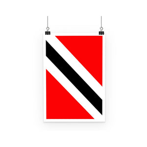 Flag Of Trinidad And Tobago Poster Wall Decor Flagdesignproducts.com