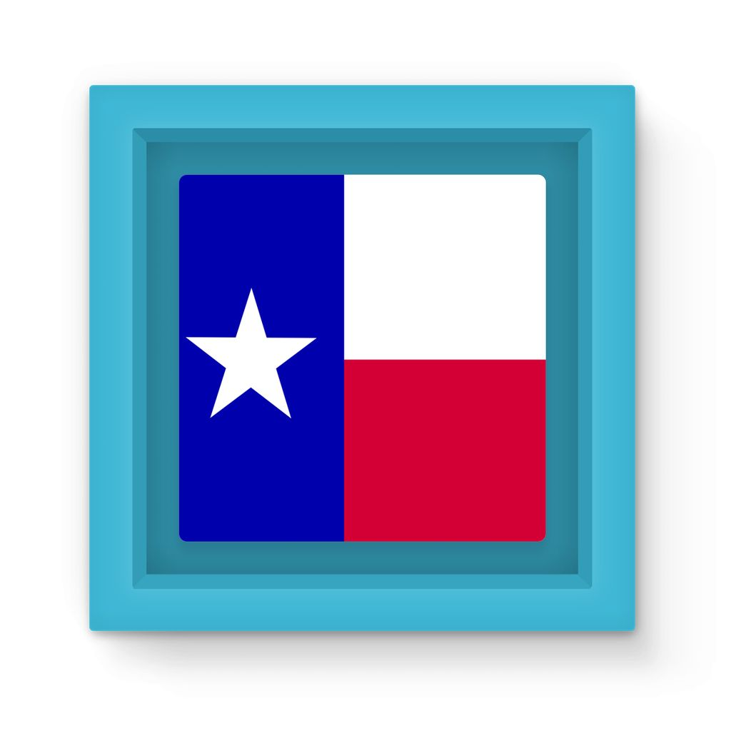 Basic Texas Flag Magnet Frame Homeware Flagdesignproducts.com