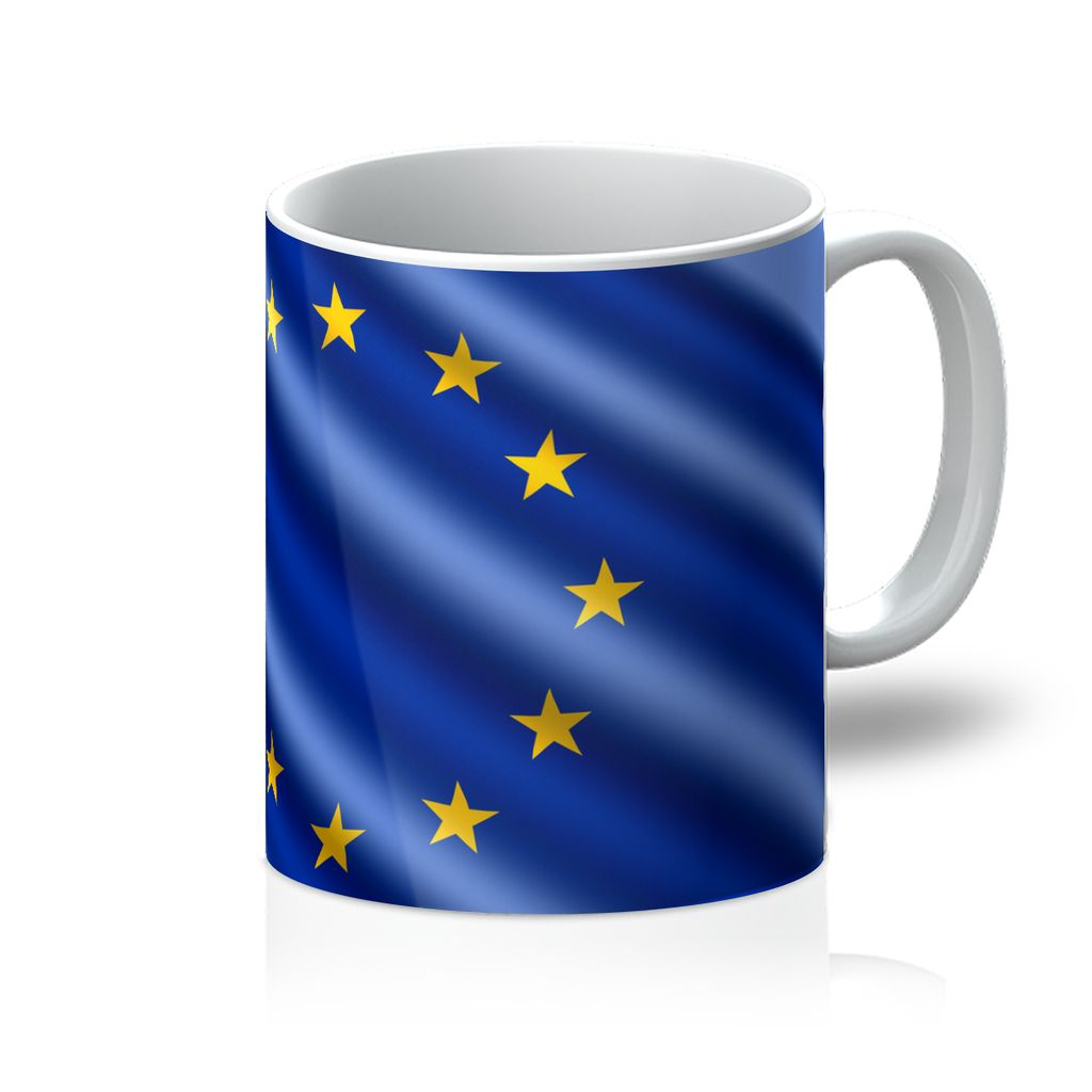 Waving Eu European Flag Mug Homeware Flagdesignproducts.com