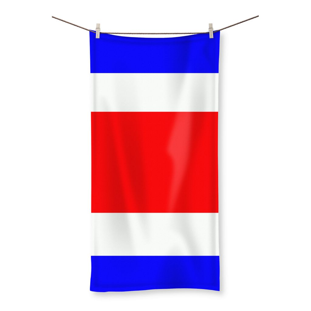 Flag Of Costa Rica Beach Towel Homeware Flagdesignproducts.com