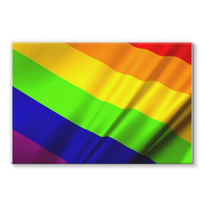 Waving Rainbow Lgbt Flag Stretched Eco-Canvas Wall Decor Flagdesignproducts.com