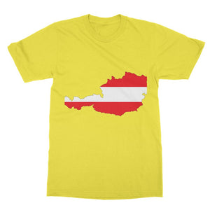 Austria Continent Flag Softstyle Ringspun T-Shirt Apparel Flagdesignproducts.com