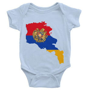 Armenia Continent Flag Baby Bodysuit Apparel Flagdesignproducts.com