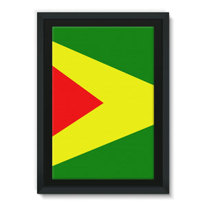 Flag Of Guyana Framed Eco-Canvas Wall Decor Flagdesignproducts.com