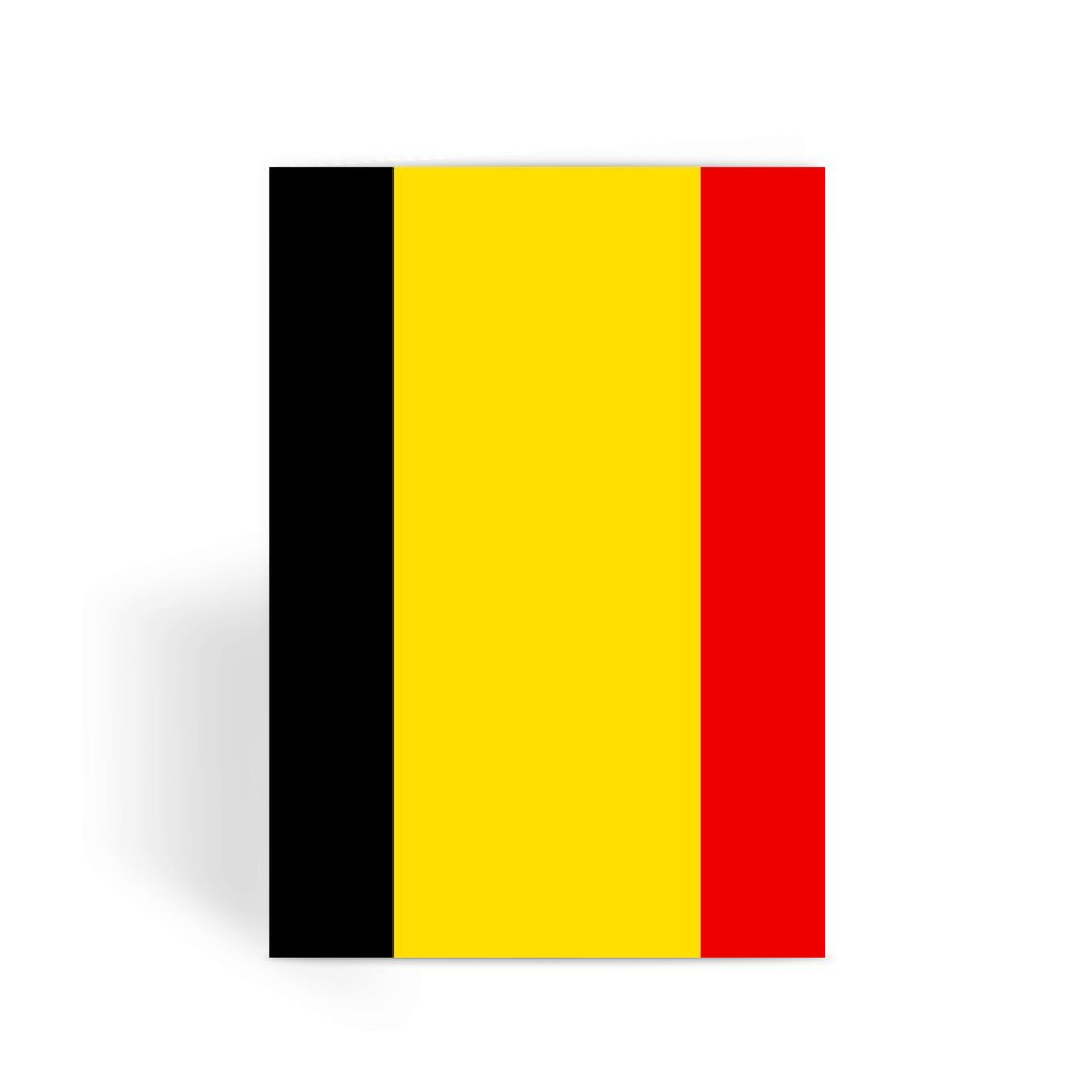 Basic Belgium Flag Greeting Card Prints Flagdesignproducts.com