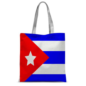Flag of Cuba Sublimation Tote Bag - FlagDesignProducts