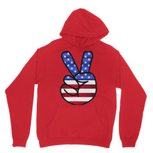 America Fingers Flag Heavy Blend Hooded Sweatshirt Apparel Flagdesignproducts.com
