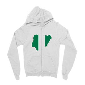 Nigeria Continent Flag Kids Zip Hoodie Apparel Flagdesignproducts.com