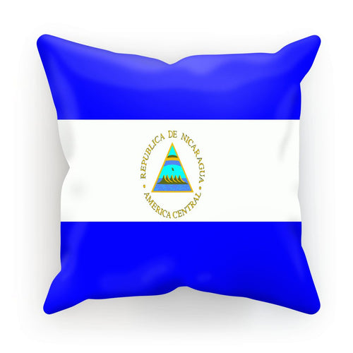 Flag Of Nicaragua Cushion Homeware Flagdesignproducts.com