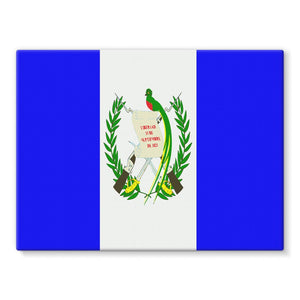 Flag Of Guatemala Stretched Eco-Canvas Wall Decor Flagdesignproducts.com