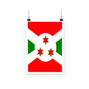 Flag Of Burundi Poster Wall Decor Flagdesignproducts.com