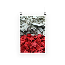 Poland Wood Chips Flag Poster Wall Decor Flagdesignproducts.com