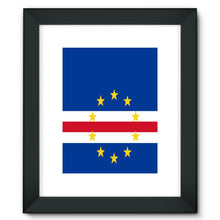 Flag Of Cape Verde Framed Fine Art Print Wall Decor Flagdesignproducts.com