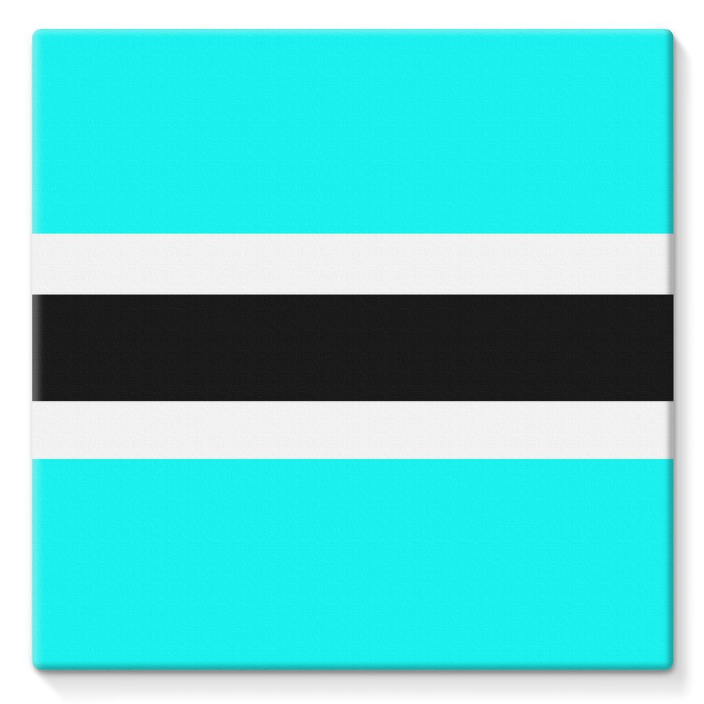 Flag Of Botswana Stretched Canvas Wall Decor Flagdesignproducts.com