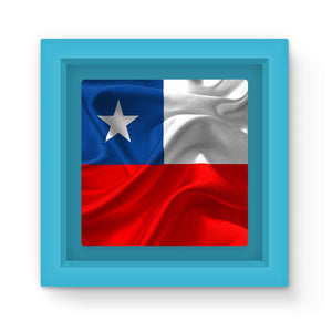 Waving Chile Flag Magnet Frame Homeware Flagdesignproducts.com
