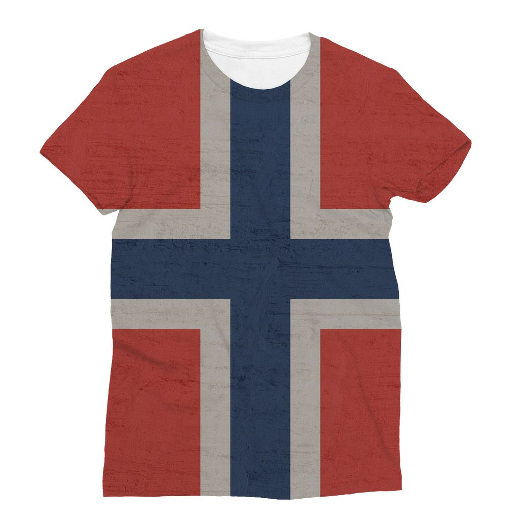 Norway Stone Wall Flag Sublimation T-Shirt Apparel Flagdesignproducts.com