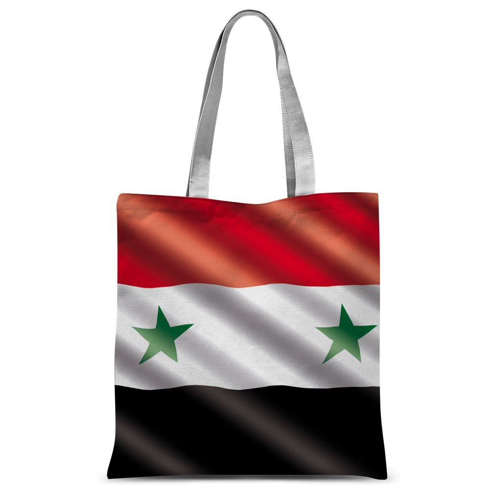 Waving Syria Flag Sublimation Tote Bag Accessories Flagdesignproducts.com