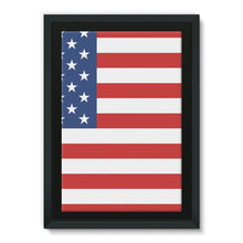 Basic America Flag Framed Canvas Wall Decor Flagdesignproducts.com