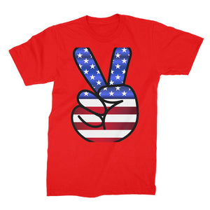 America Fingers Flag Unisex Fine Jersey T-Shirt Apparel Flagdesignproducts.com
