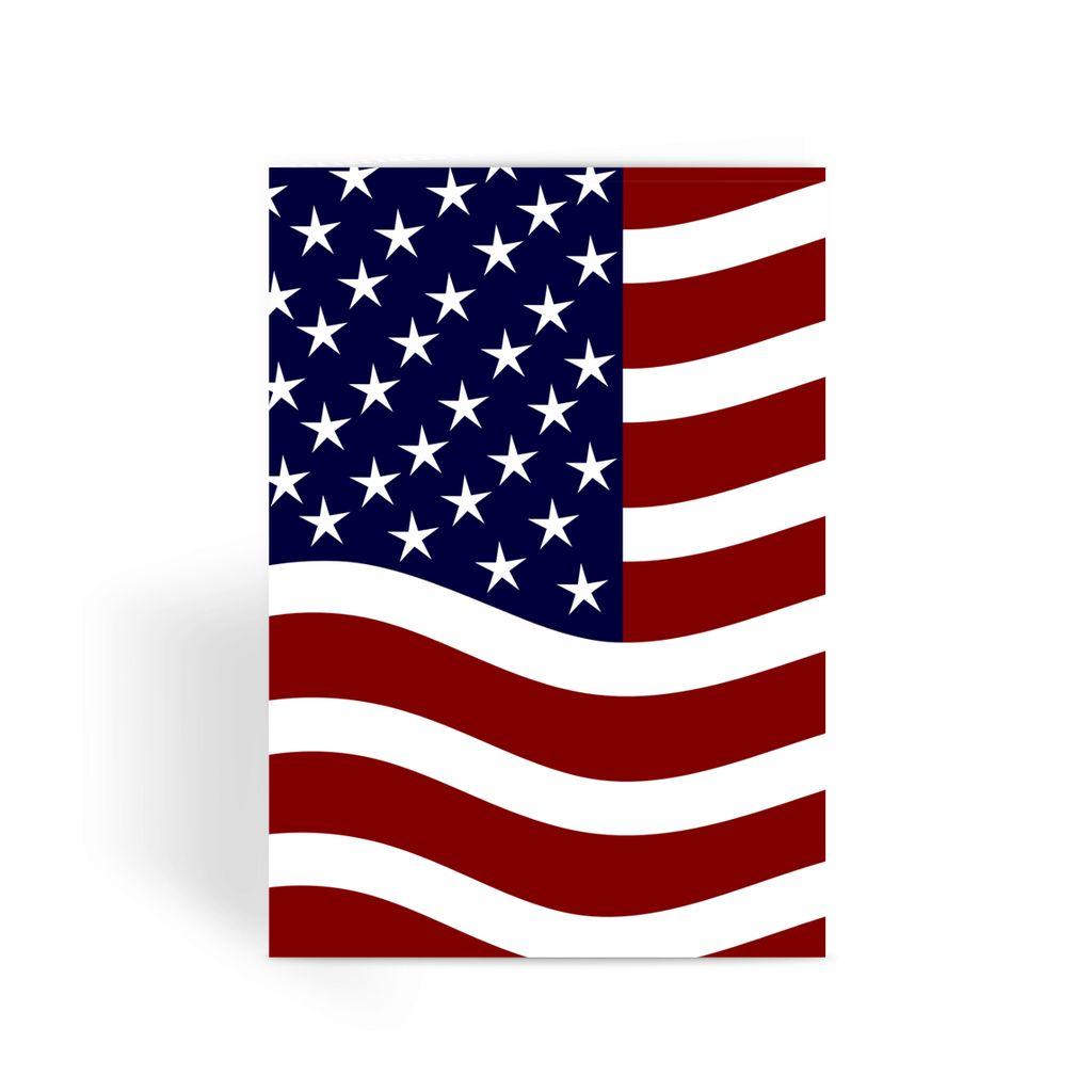 Waving Usa Flag Greeting Card Prints Flagdesignproducts.com