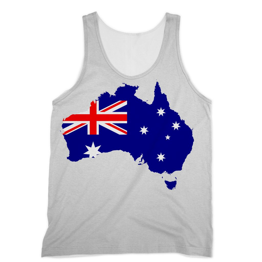 Australia Continent Flag Sublimation Vest Apparel Flagdesignproducts.com