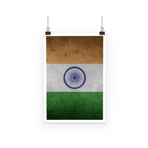 Grunge India Flag Poster Wall Decor Flagdesignproducts.com