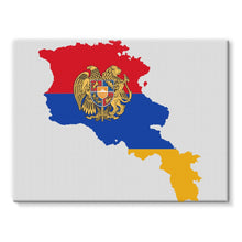 Armenia Continent Flag Stretched Canvas Wall Decor Flagdesignproducts.com