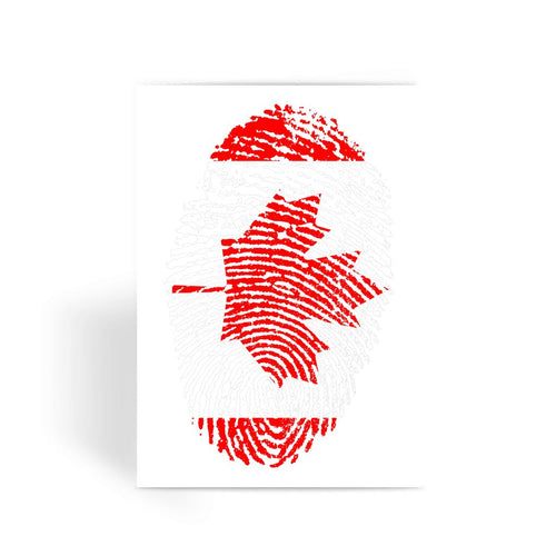 Canada Finger Print Flag Greeting Card Prints Flagdesignproducts.com