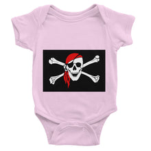 Bones And Skull Pirate Flag Baby Bodysuit Apparel Flagdesignproducts.com
