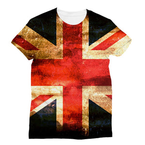Dark Uk Flag Sublimation T-Shirt Apparel Flagdesignproducts.com