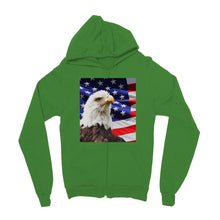 American Eagle And Usa Flag Kids Zip Hoodie Apparel Flagdesignproducts.com