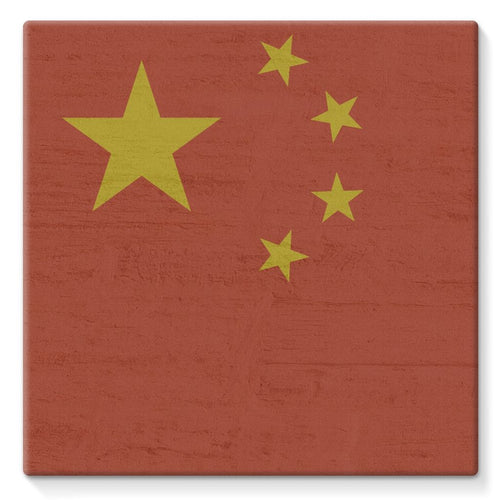 China Stone Wall Flag Stretched Eco-Canvas Decor Flagdesignproducts.com