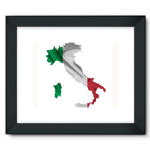 Waving Italy Continent Flag Framed Fine Art Print Wall Decor Flagdesignproducts.com