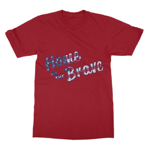 Home Of The Brave Usa Flag Softstyle Ringspun T-Shirt Apparel Flagdesignproducts.com