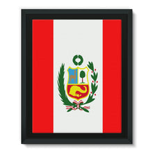 Flag Of Peru Framed Eco-Canvas Wall Decor Flagdesignproducts.com